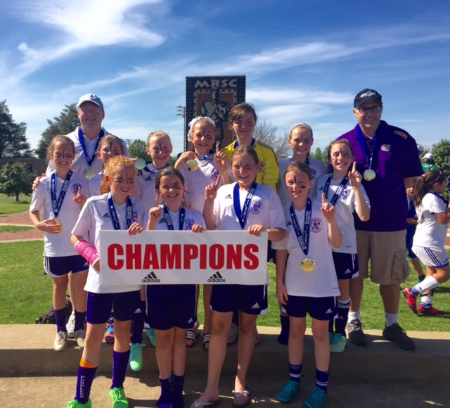 Purple Rain 2005 wins 2016 Soccer Elite Tourney